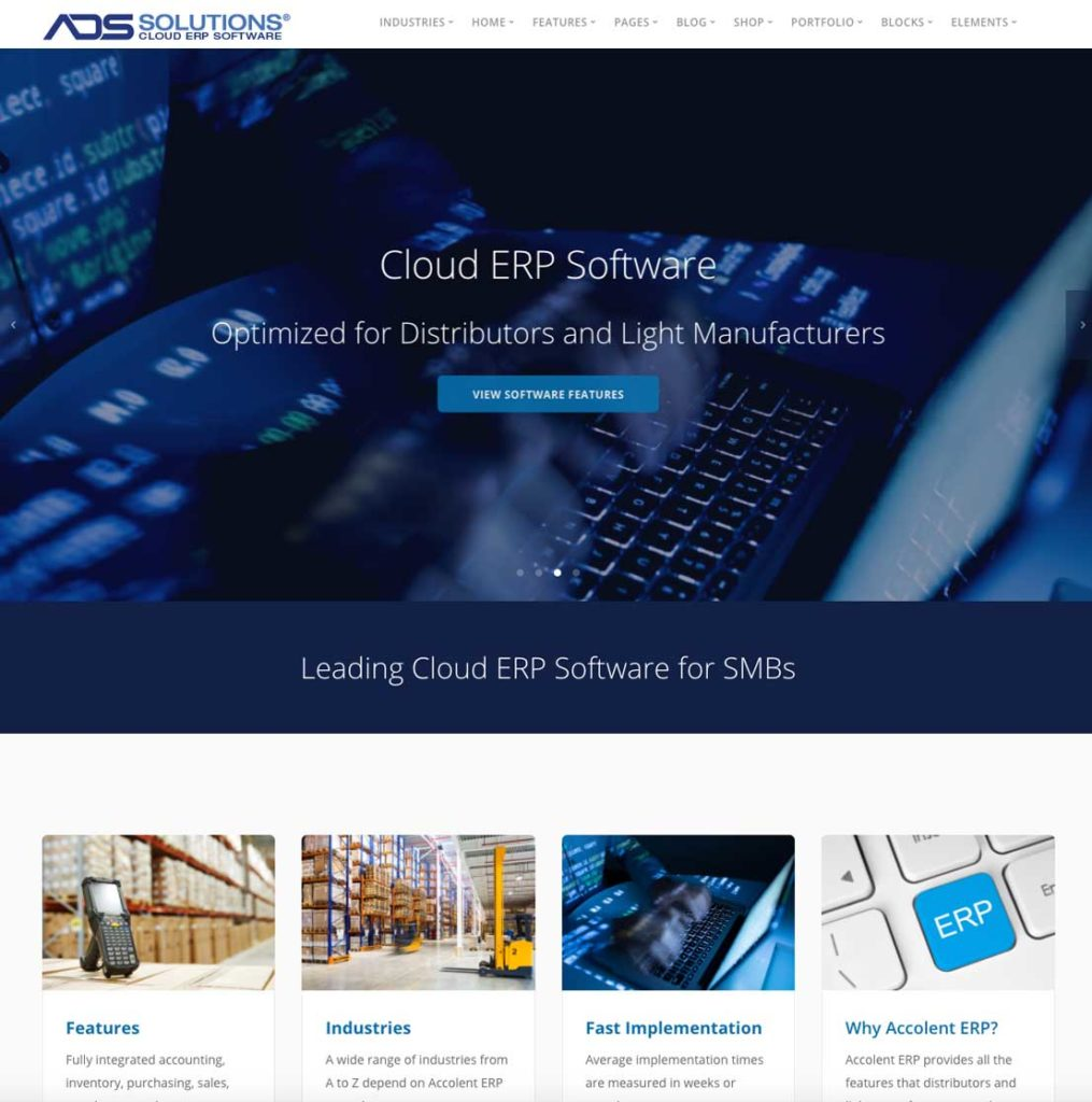 accolent erp home page