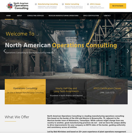 North American Operations Consulting Website