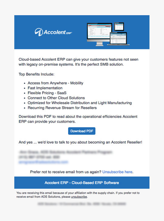 Email Examples Recent Work | Clear Lake Marketing