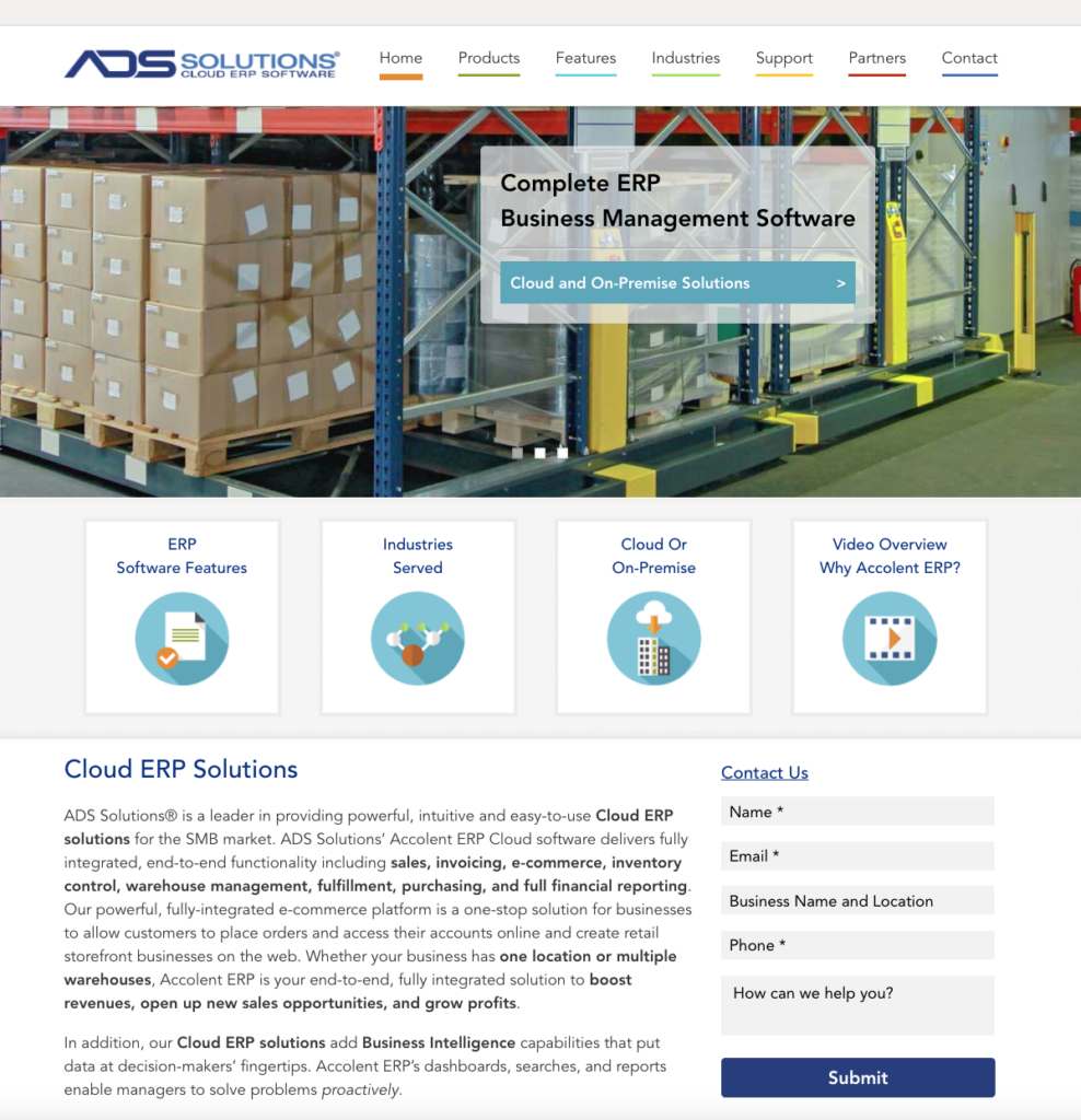 ads solutions custom website